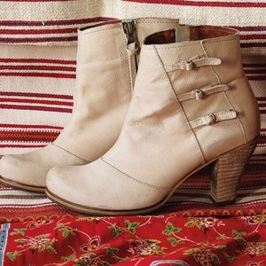 Anthropologie buckled Triad Booties